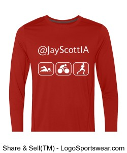 Men's Active Tri-It-All T Red/White Design Zoom